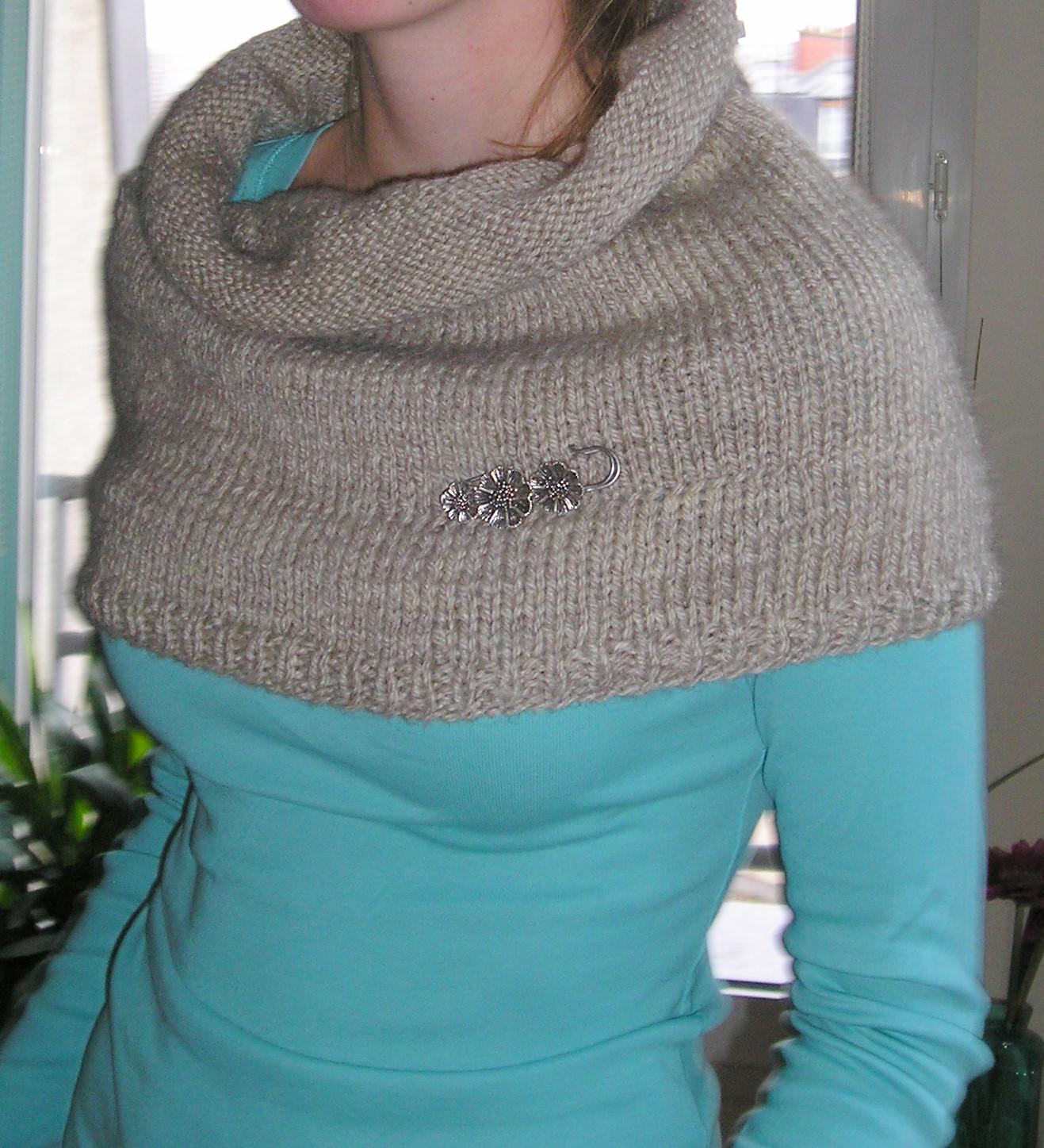apprendre a tricoter une echarpe tube